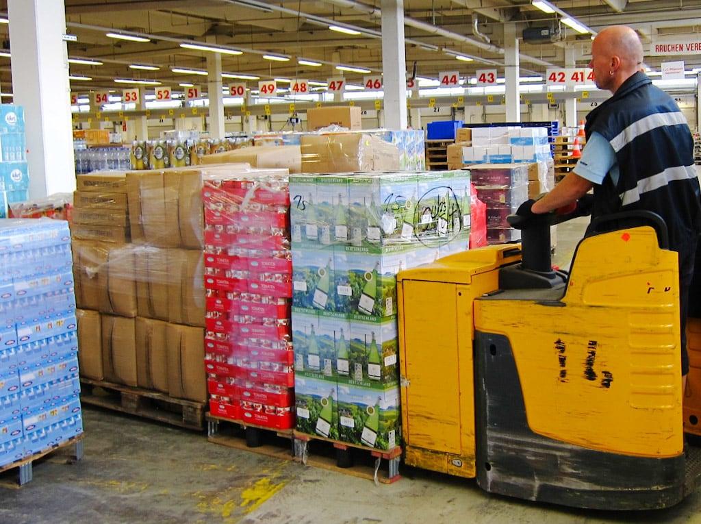 Die Hallenheizung von Schwank in einem Logistikzentrum von ALDI Süd.