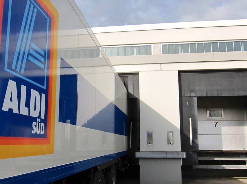 Aldi Süd Logistikzentrum im Saarland.