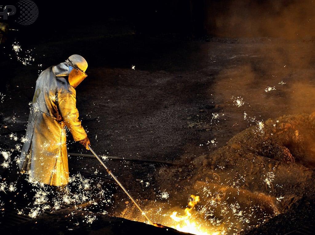 Stahlarbeiten bei AcelorMittal.