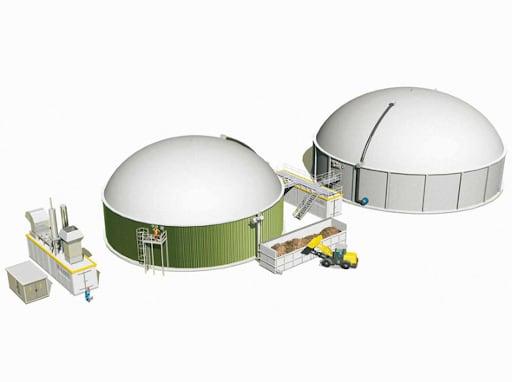 Illustration einer Biogasanlage von Entsorga.