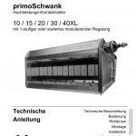 Titelbild der Technischen Anleitung für den Hellstrahler primoSchwank. .
