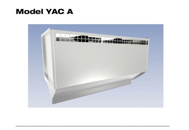 Titelbild der technischen Anleitung einer SchwankAir Torluftschleier des Models YAC A.