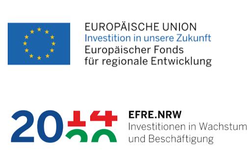Logos der Europäischen Union und des EFRE.NRW.
