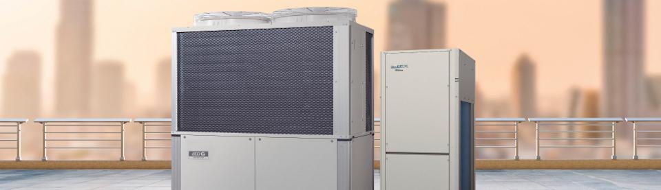 Die Hybrid-Wärmepumpe zum Heizen & Kühlen von großen Gebäuden.