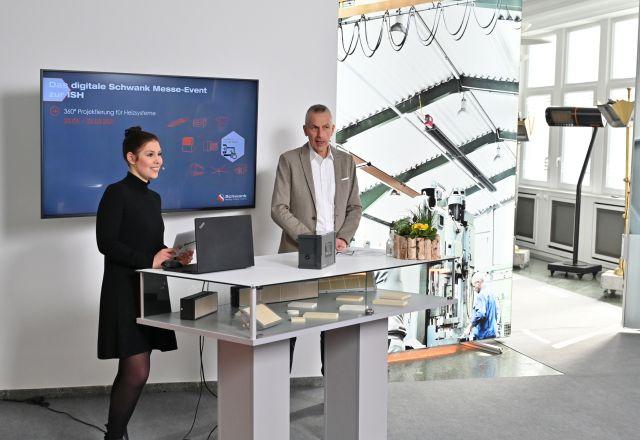 Die Moderatoren des ersten digitalen Schwank Messe-Events zur ISH 2021.